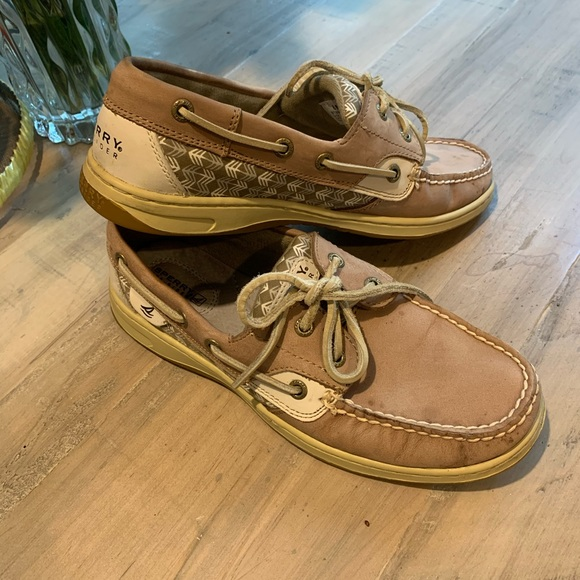 Sperry Shoes - Sperry Topsider Bluefish Zigzag Greige